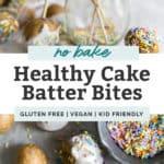 cake batter bites pinterest graphic