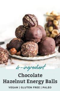 chocolate hazelnut energy balls pinterest
