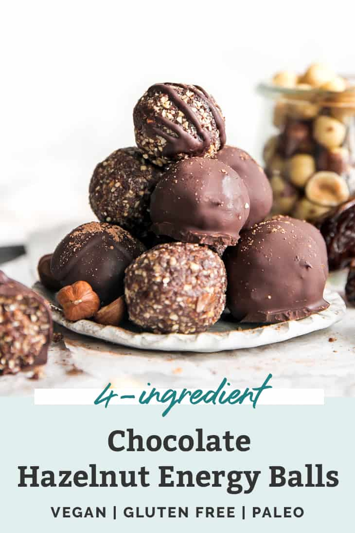 chocolate hazelnut energy balls pinterest