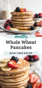 whole wheat pancakes pinterest