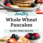whole wheat pancakes pinterest