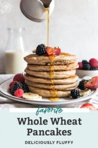 whole wheat pancakes stack