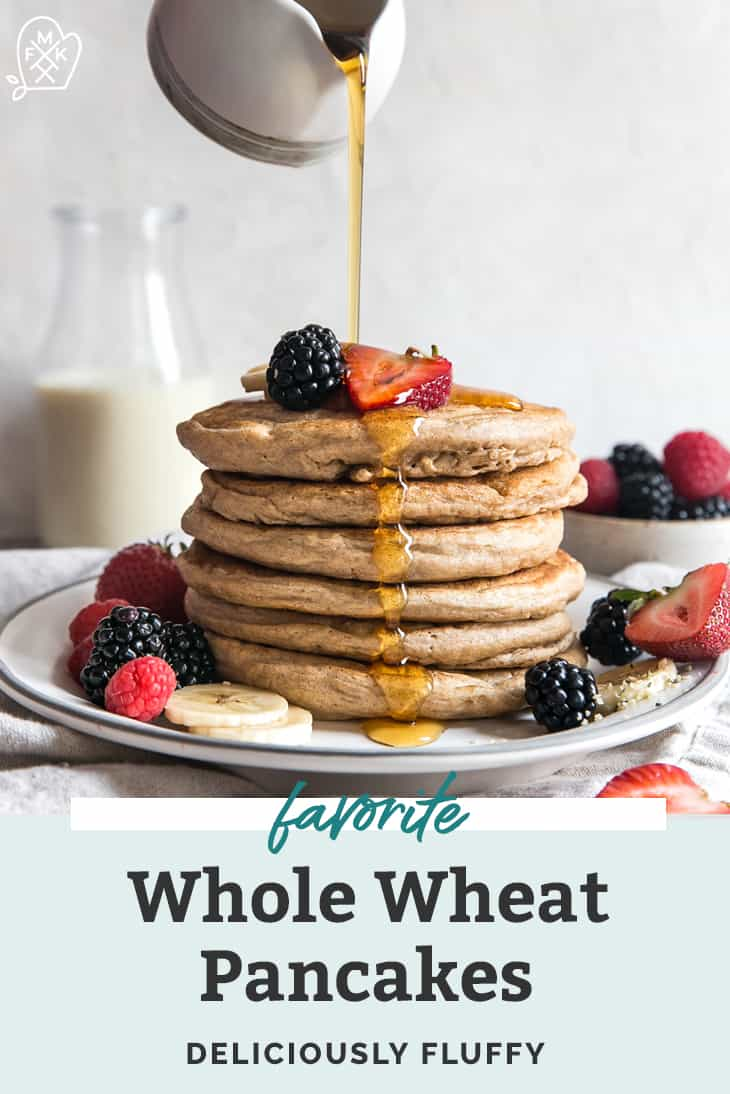 whole wheat pancakes stack