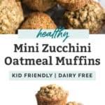 mini zucchini oatmeal muffins