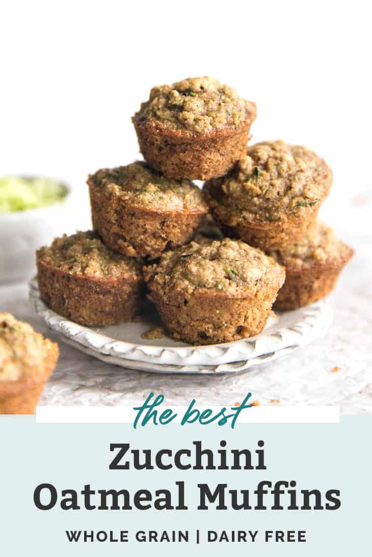 the best mini zucchini oatmeal muffin pinterest graphic