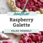 healthier raspberry galette