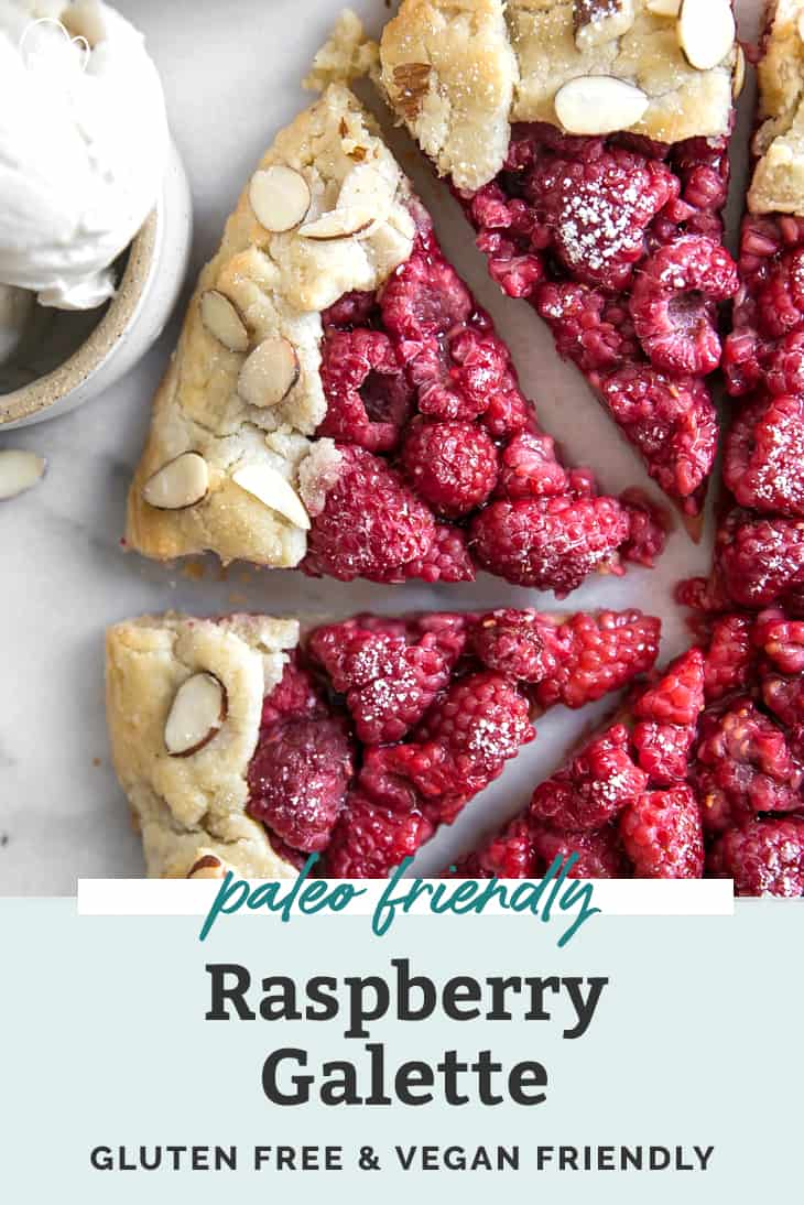 paleo friendly raspberry galette