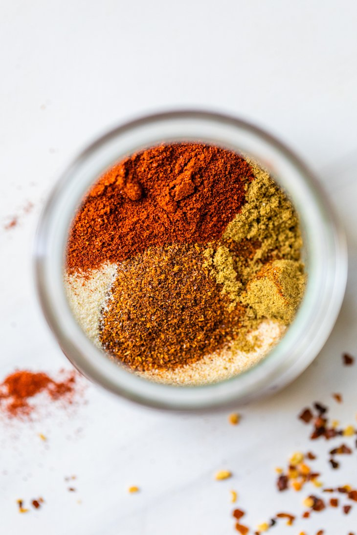 spices in a small glass jar