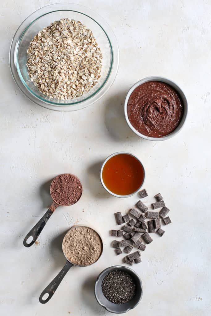 ingredients for chocolate protein bars