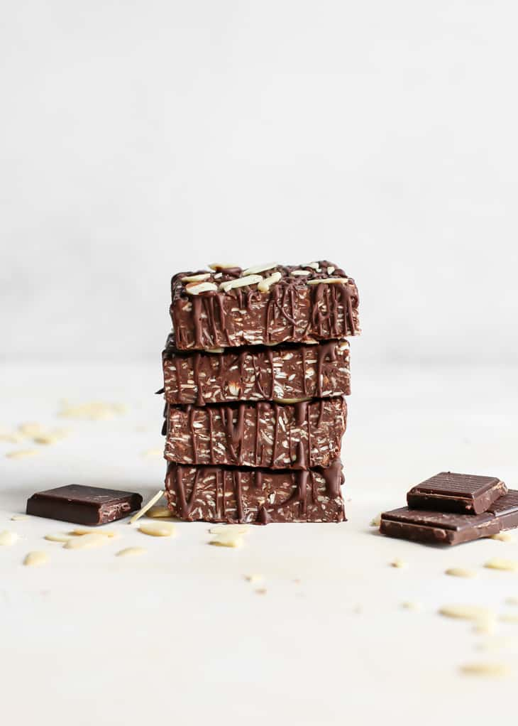 stacked chocolate protein bars