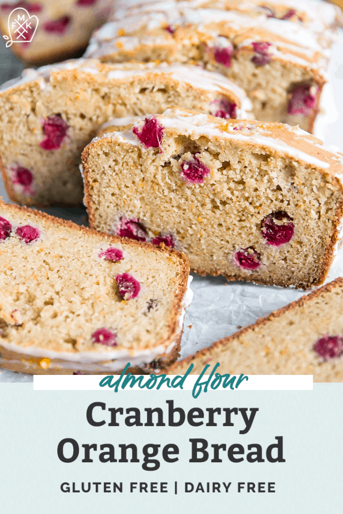 healthy Cranberry Orange Bread pinterest graphic