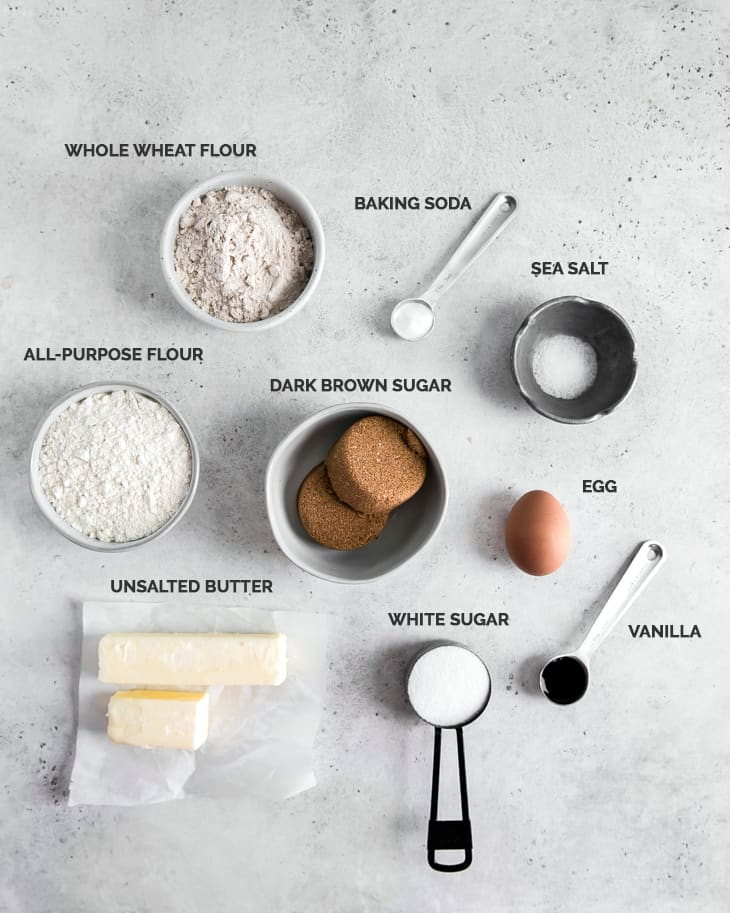 ingredients text for cookie recipe