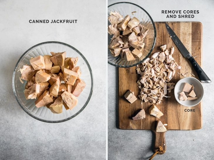 images of how to prepare canned jackfruit