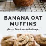Banana oat muffins Pinterest Image
