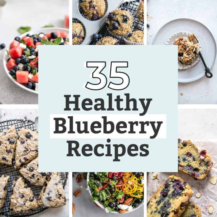 blueberry recipes graphic