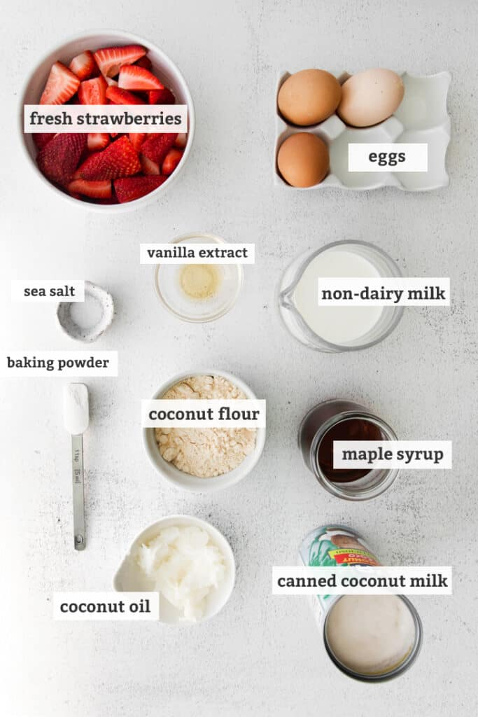 ingredients in strawberry shortcake labeled